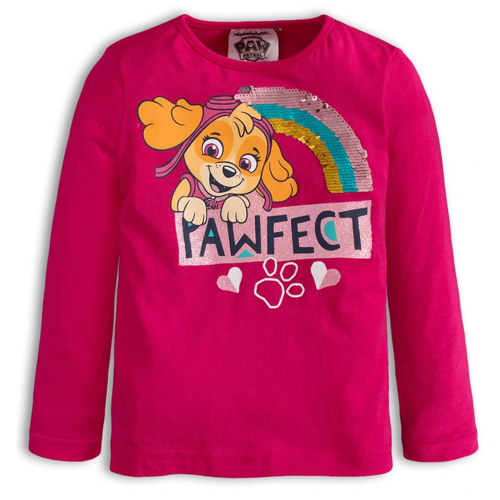 Dievčenské tričko PAW PATROL PAWFECT ružové