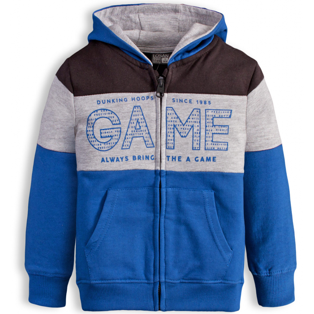Chlapčenská mikina LOSAN GAME modrá