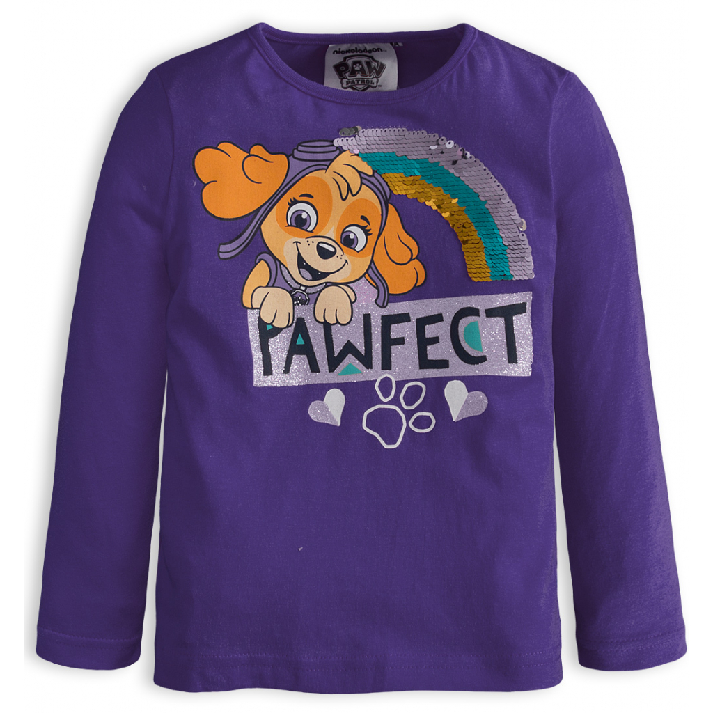 Dievčenské tričko PAW PATROL PAWFECT fialové