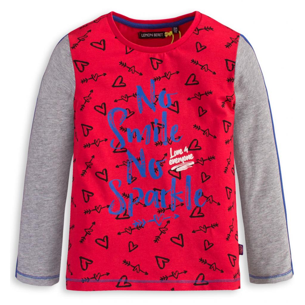 Dievčenské tričko LEMON BERET SMILE červené