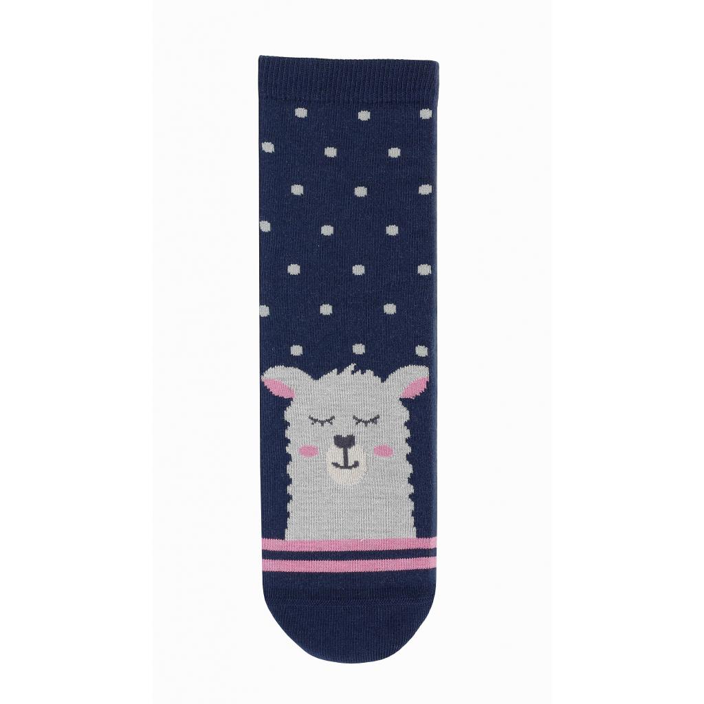 Dievčenské ponožky so vzorom WOLA LAMA modré