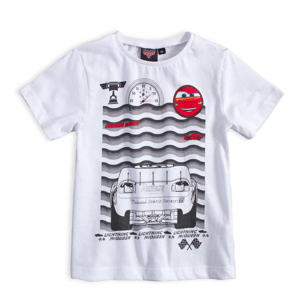 Detské tričko DISNEY CARS McQUEEN biele