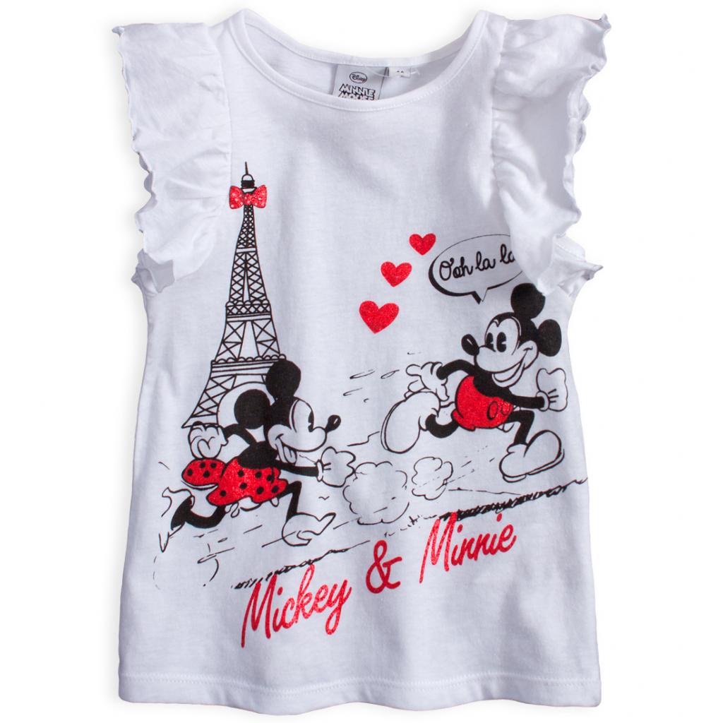 Dievčenské tričko DISNEY MINNIE PARÍŽ biele