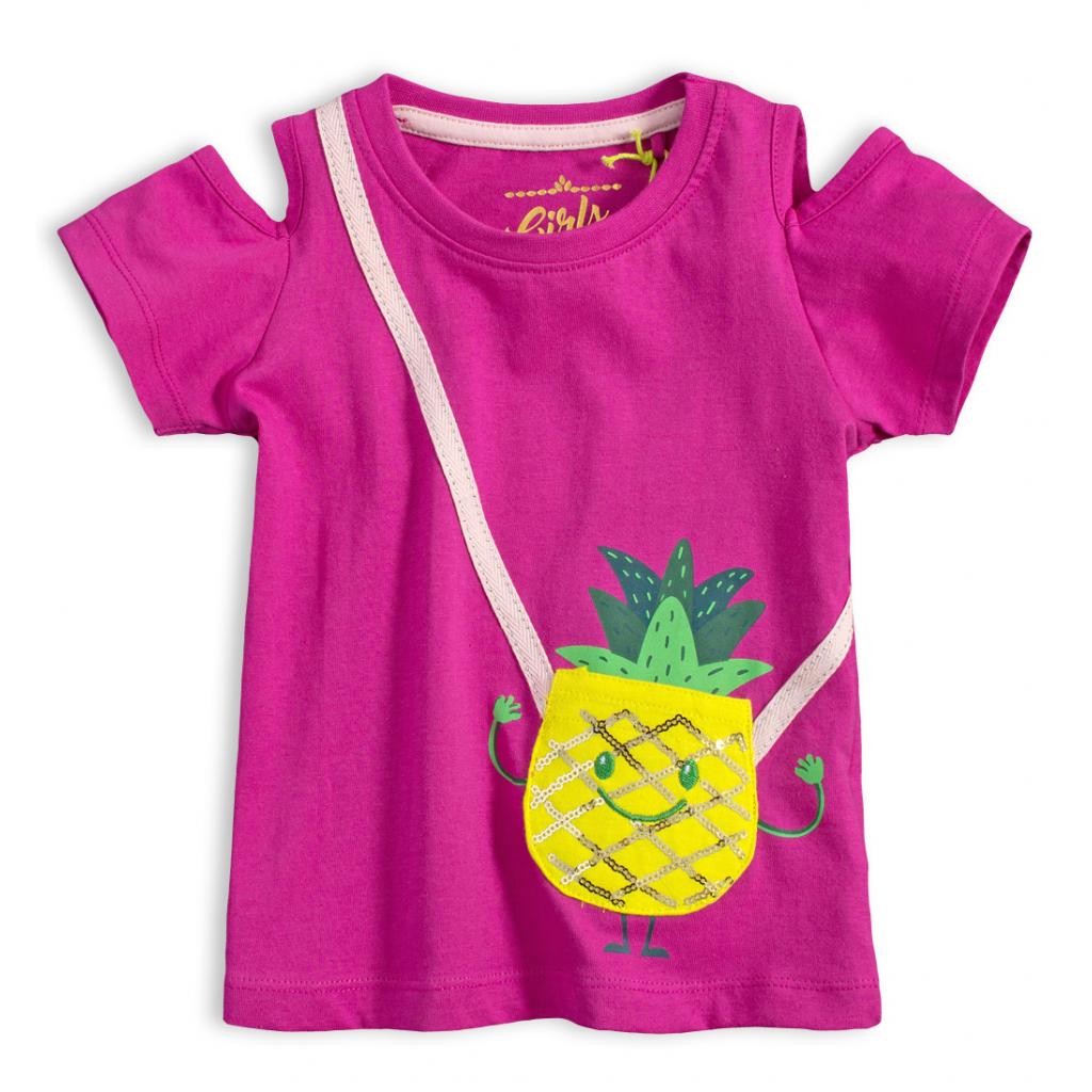 Dievčenské tričko LEMON BERET ANANÁS fialové