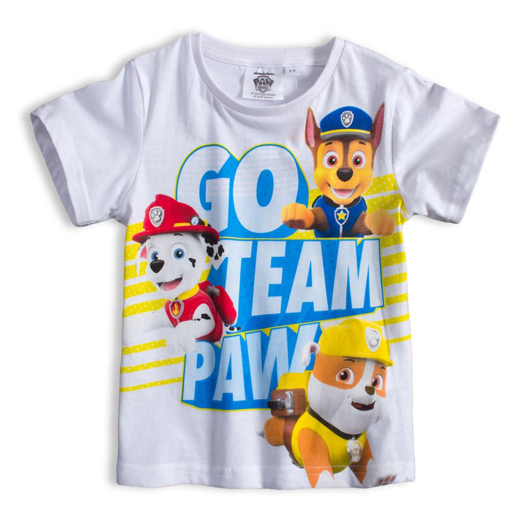 Chlapčenské tričko PAW PATROL TEAM biele