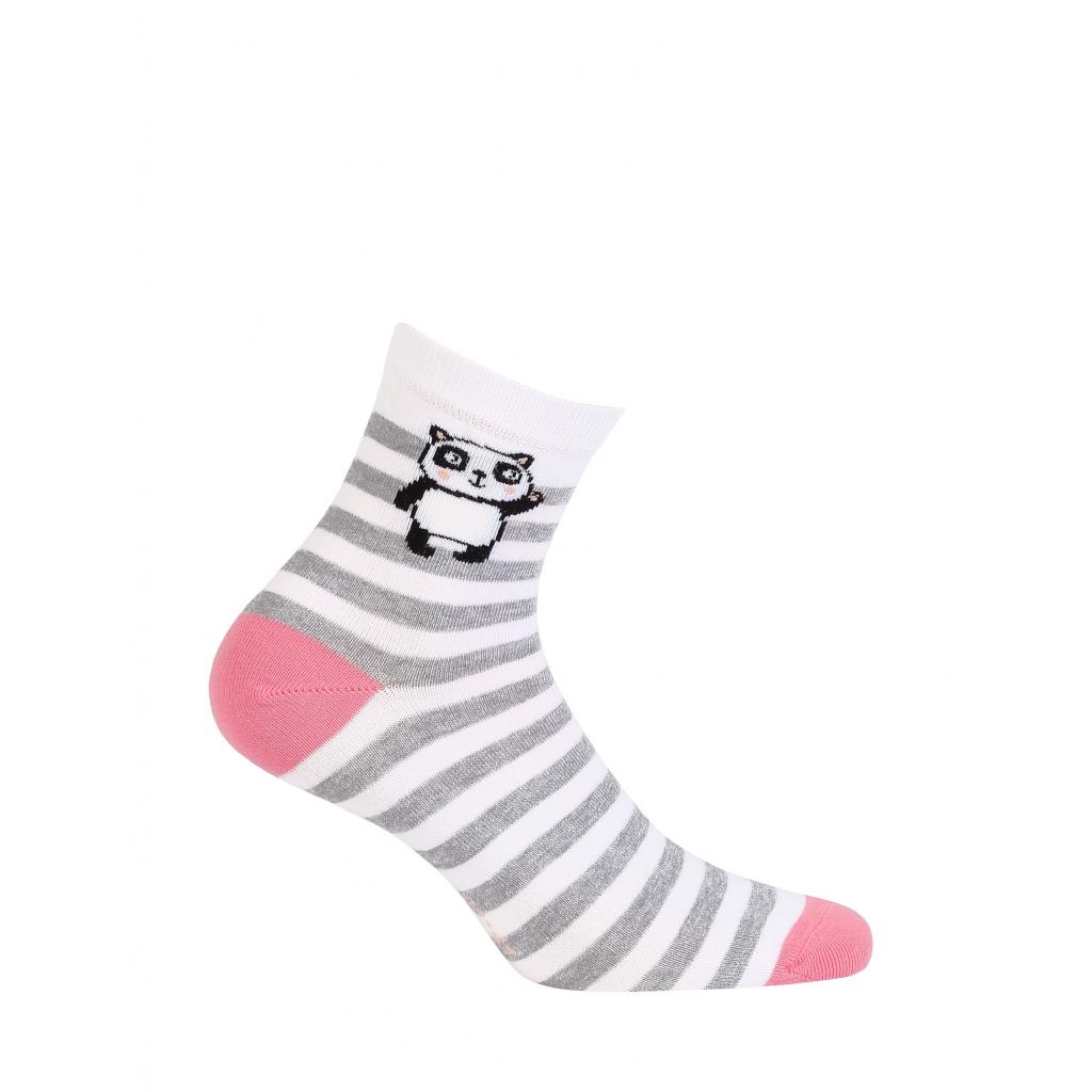 Dámske ponožky so vzorom GATTA PANDA biele prúžky