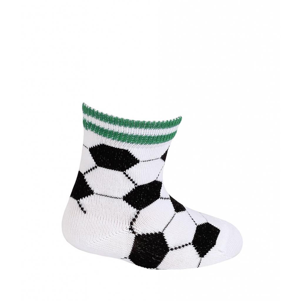 Dojčenské vzorované ponožky WOLA FUTBALOVÉ LOPTY biele