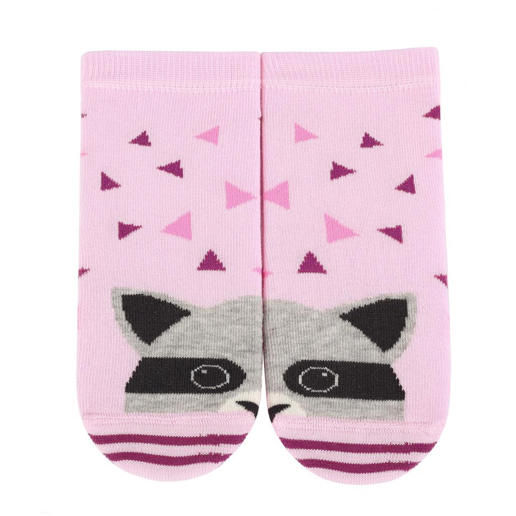 Vzorované dievčenské ponožky WOLA MÝVAL ružové