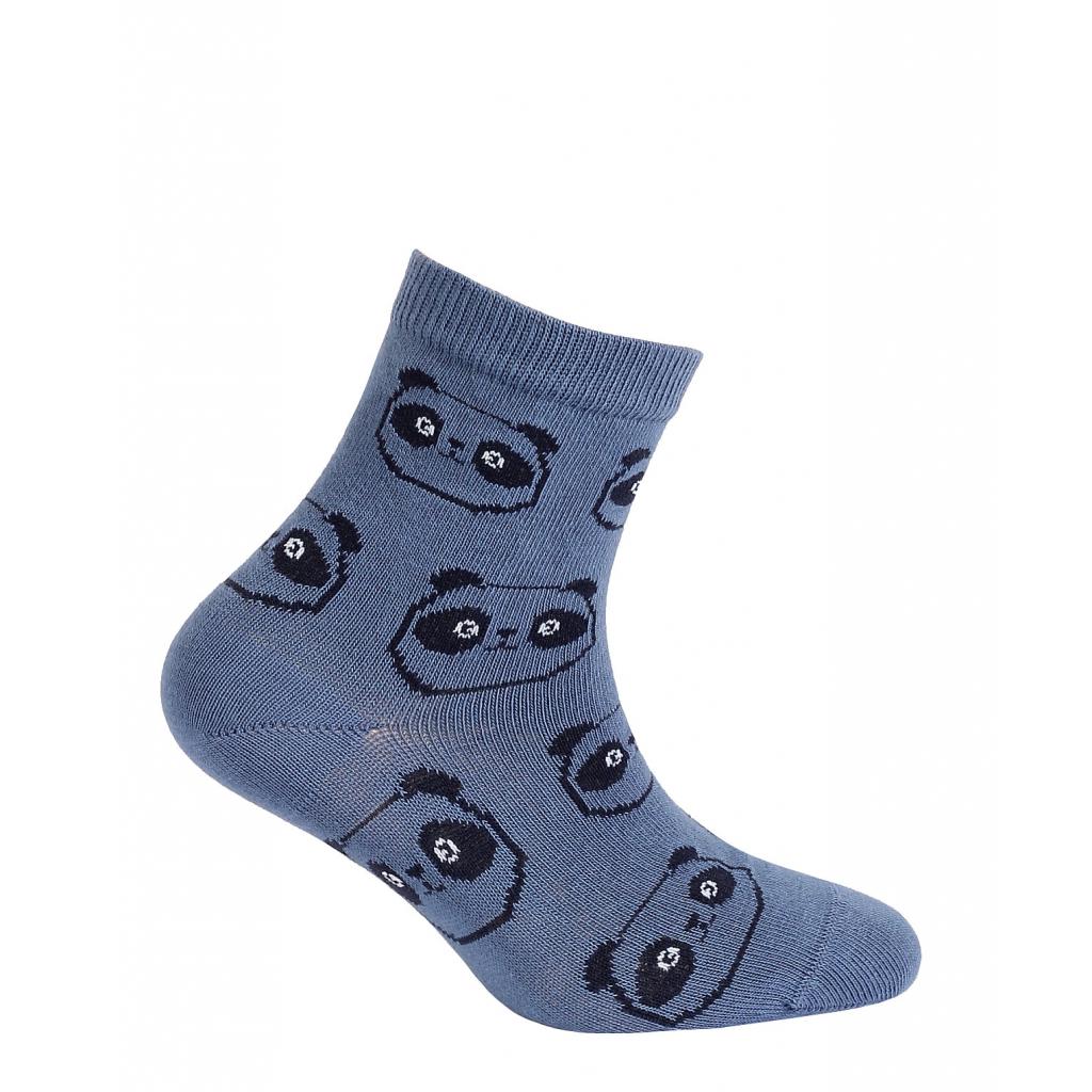 Chlapčenské ponožky so vzorom WOLA PANDY modré