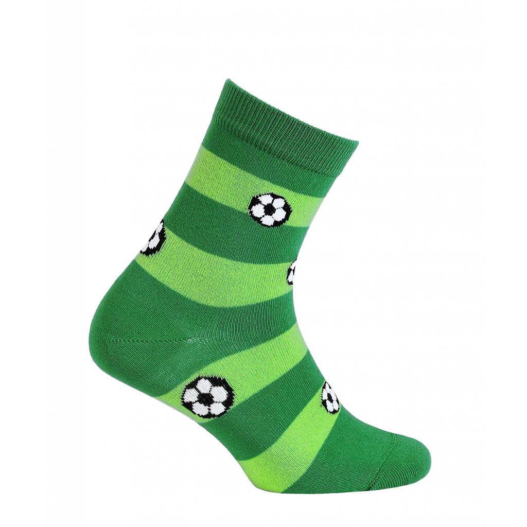 Vzorované chlapčenské ponožky WOLA LOPTY zelené