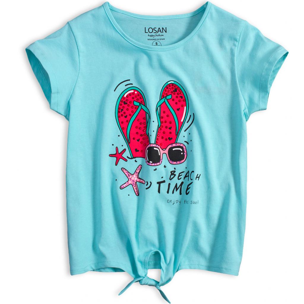 Dievčenské tričko LOSAN BEACH TIME tyrkysové