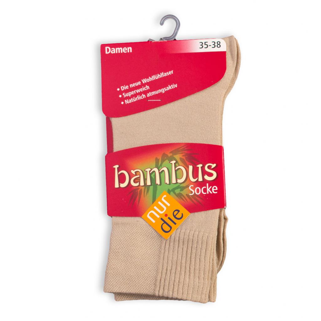 Dámske bambusové ponožky NUR DIE béžové
