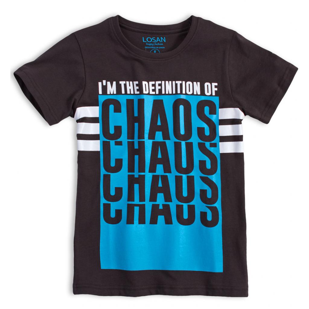 Chlapčenské tričko LOSAN CHAOS tmavo šedé