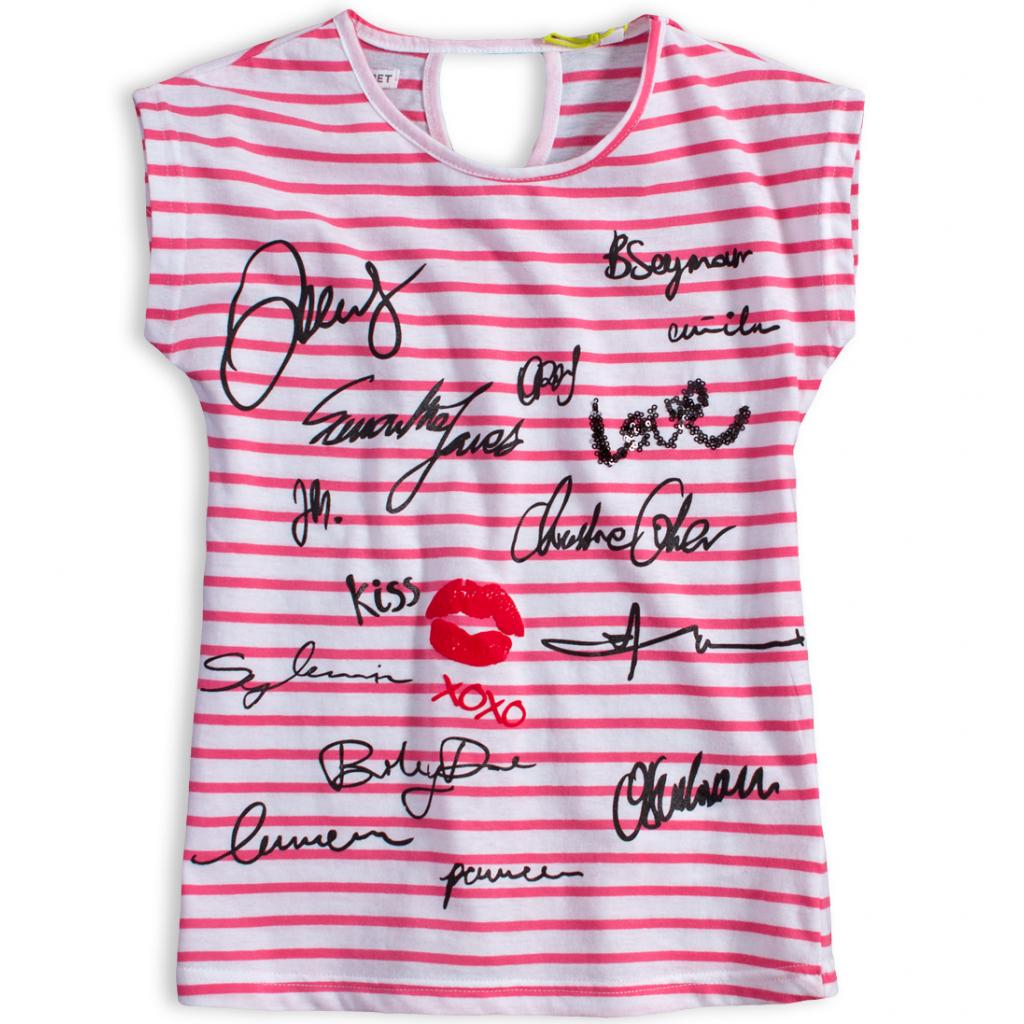 Dievčenské tričko LEMON BERET VIP ružový prúžok