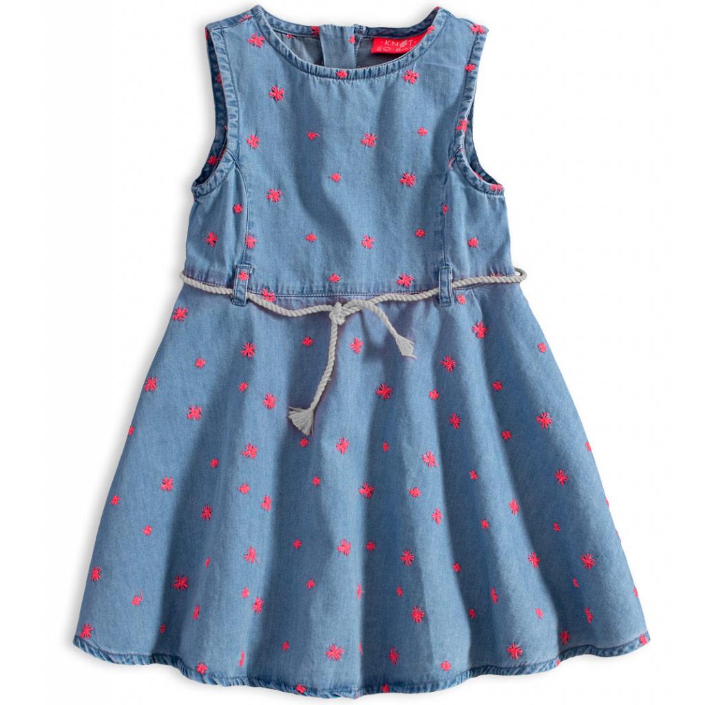 Dievčenské letné šaty KNOT SO BAD FREE SUMMER ružové