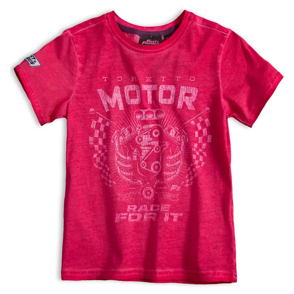 Chlapčenské tričko FAST&FURIOUS MOTOR červené
