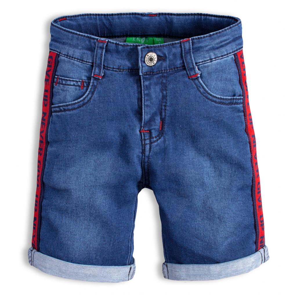 Chlapčenské džínsové šortky KNOT SO BAD NEVER GIVE UP modré