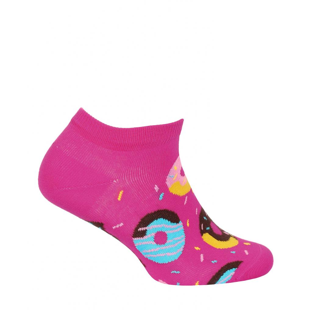 Dievčenské členkové ponožky WOLA DONUTS ružové