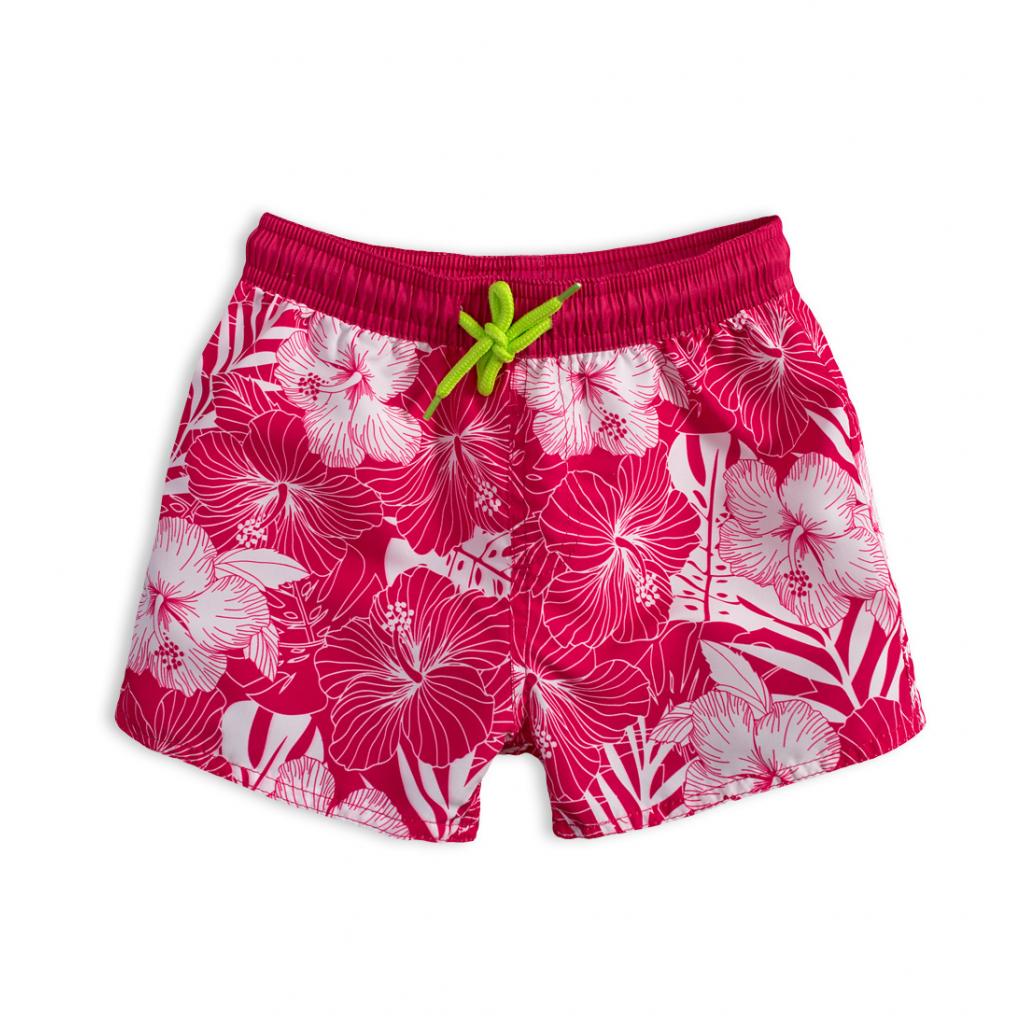 Dievčenské plavkové šortky KNOT SO BAD IBIŠKY ružové