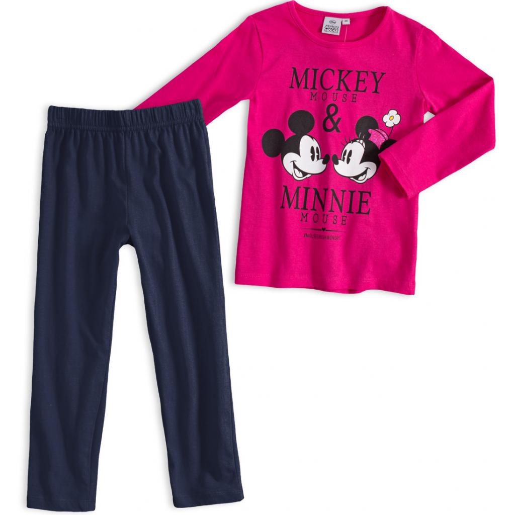Dievčenské pyžamo DISNEY MINNIE a MICKEY tmavo ružové