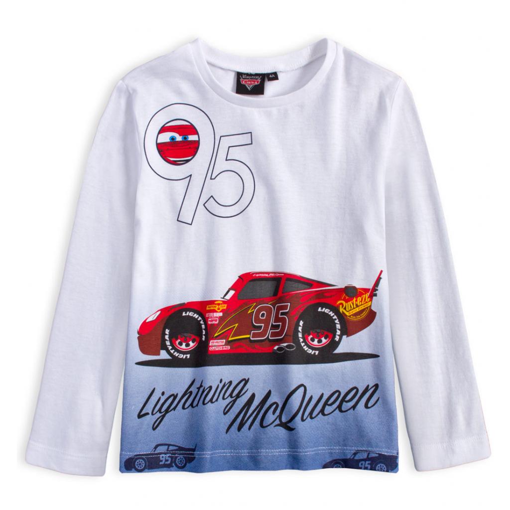 Chlapčenské tričko DISNEY CARS BLESK McQUEEN biele