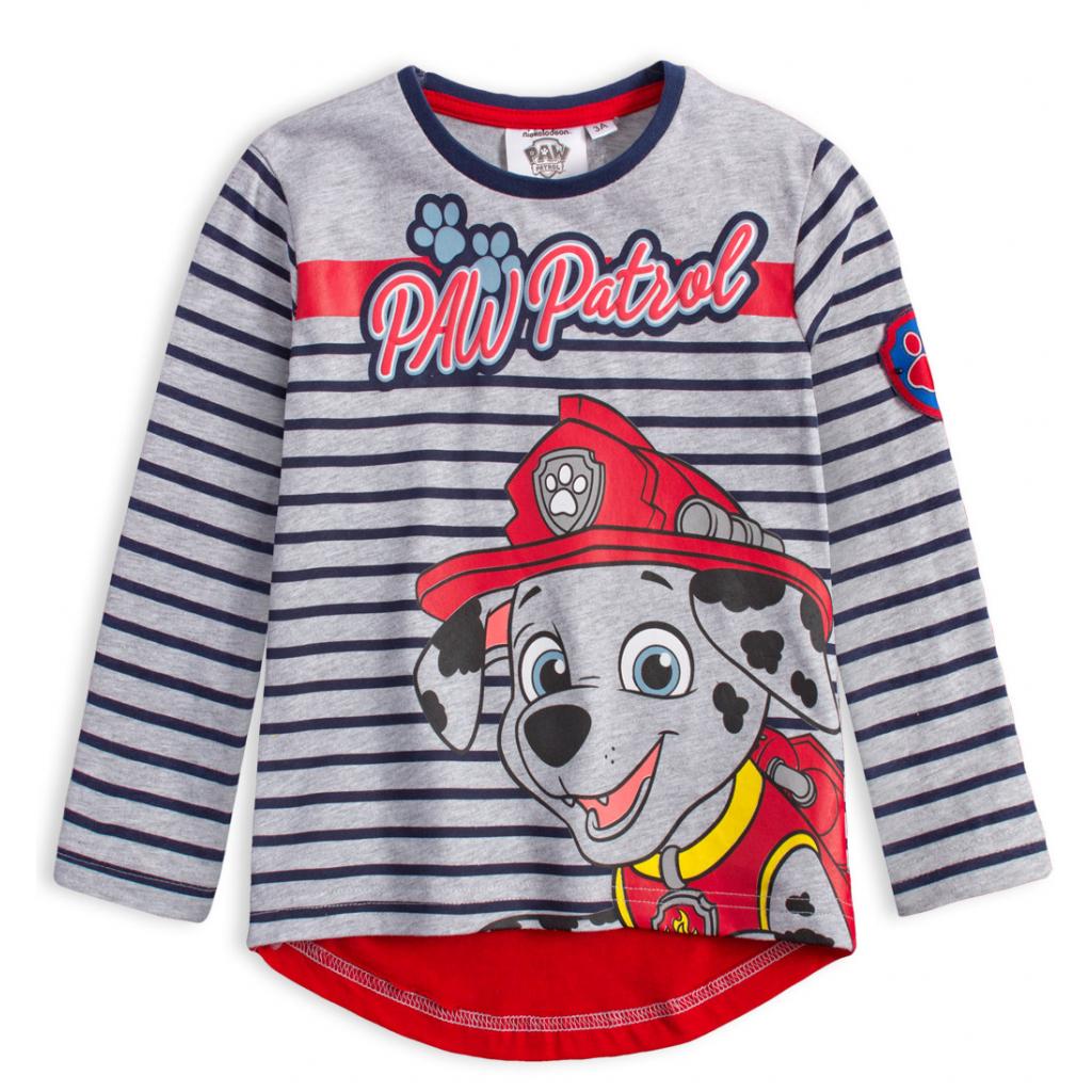 Chlapčenské tričko PAW PATROL MARSHALL modré prúžky