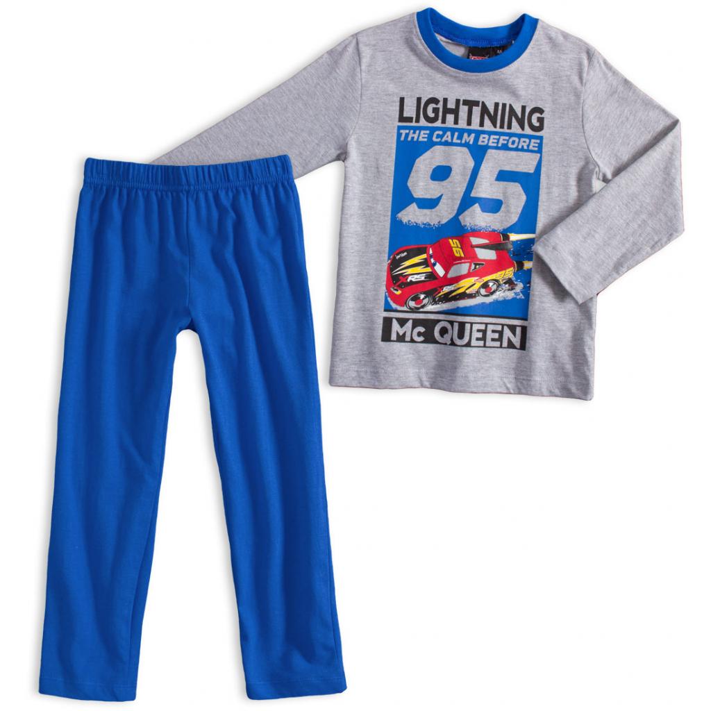 Chlapčenské pyžamo DISNEY CARS BLESK McQUEEN šedé