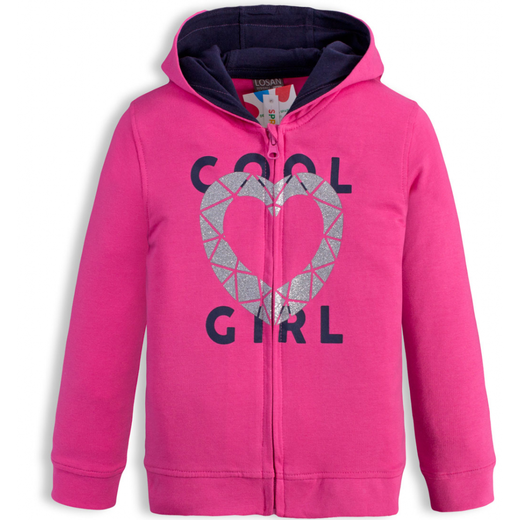 Dievčenská mikina LOSAN COOL GIRL ružová