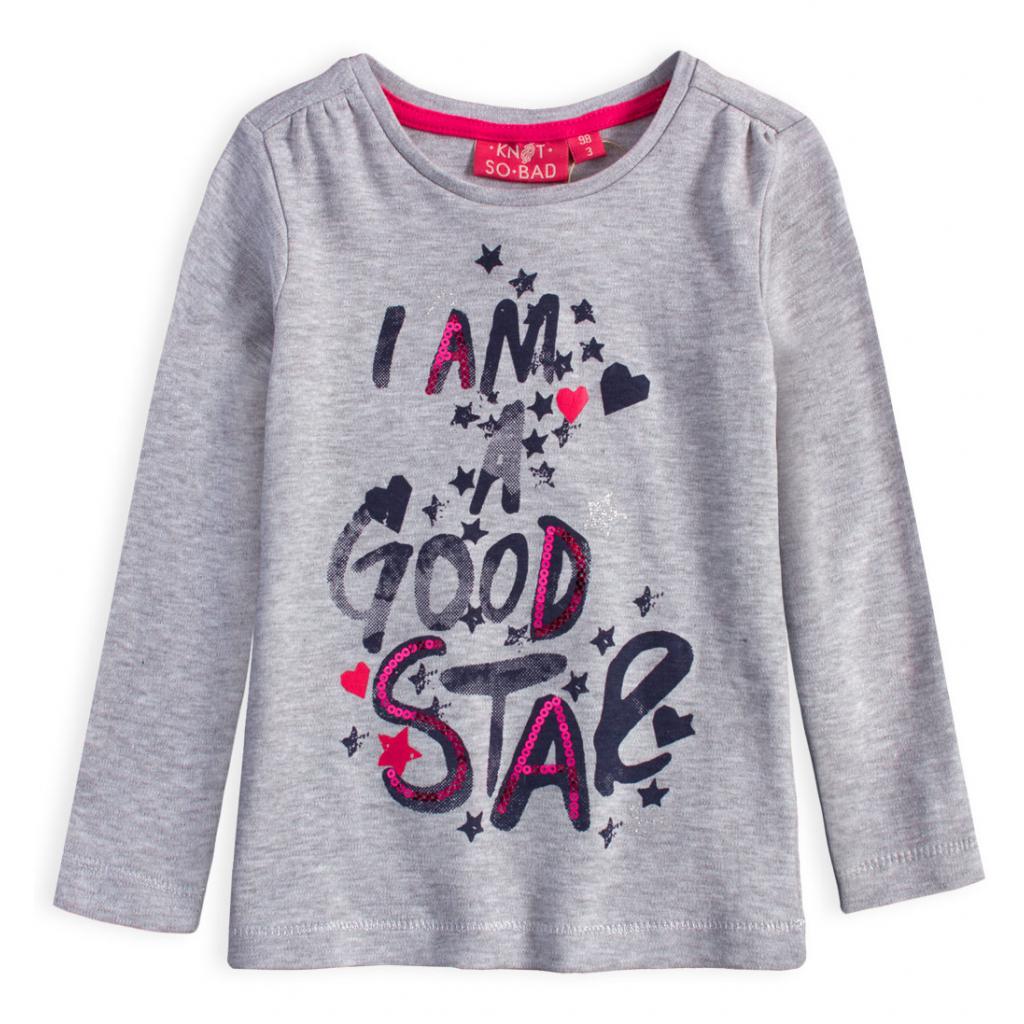 Dievčenské tričko KNOT SO BAD GOOD STAR šedé