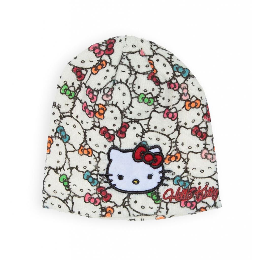 Dievčenská čiapka HELLO KITTY biela