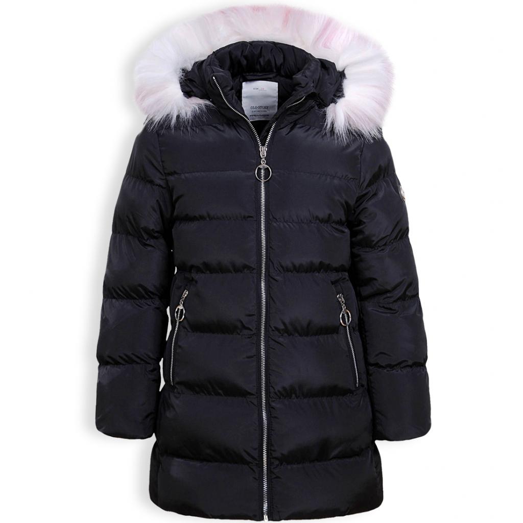 Dievčenský zimný kabát GLO STORY RING čierny