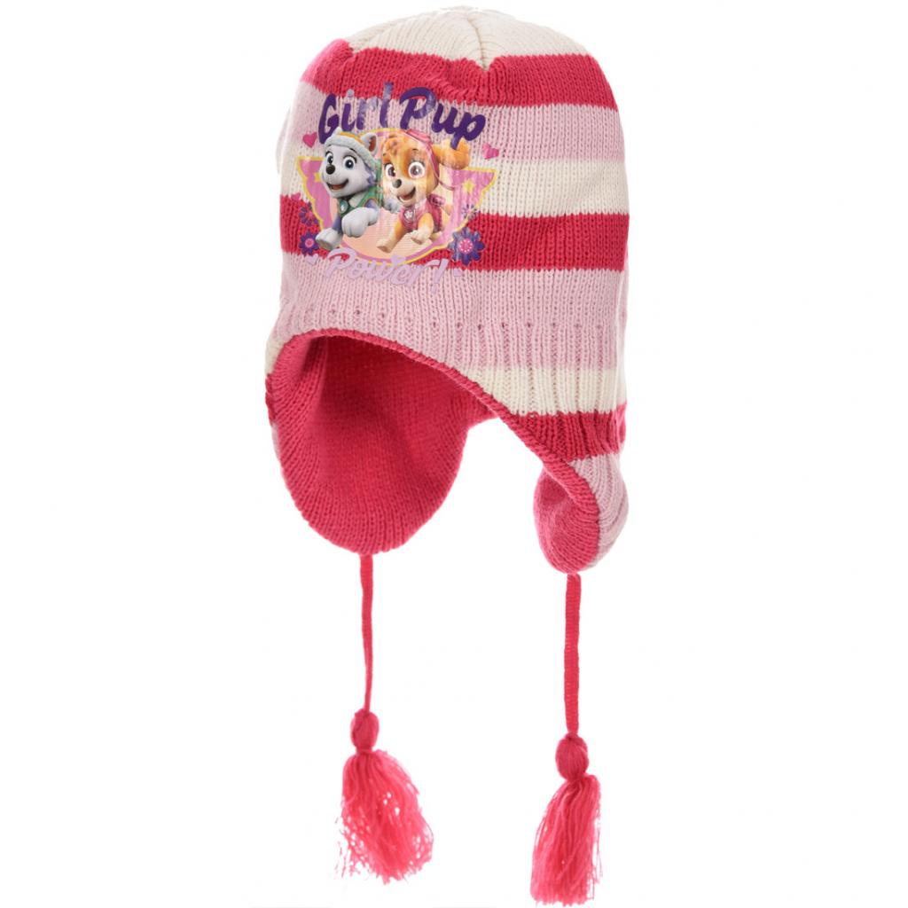 Dievčenská pletená čiapka PAW PATROL ružová