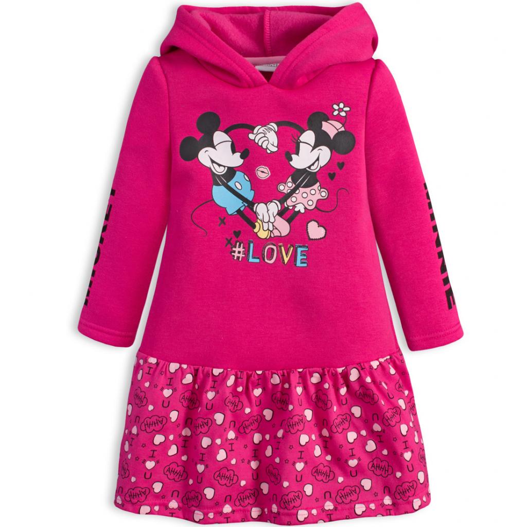 Dievčenské šaty DISNEY MINNIE LOVE ružové