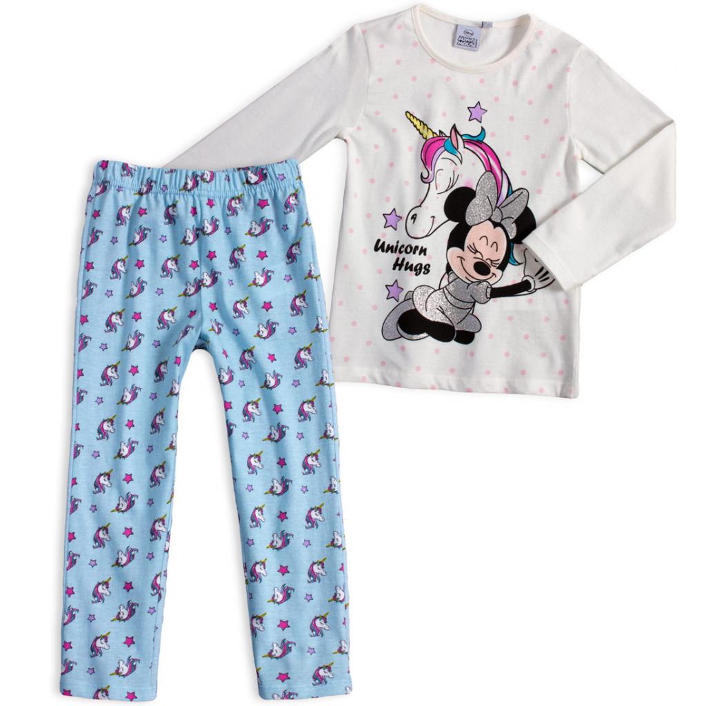 Dievčenské pyžamo DISNEY MINNIE UNICORN HUGS krémové