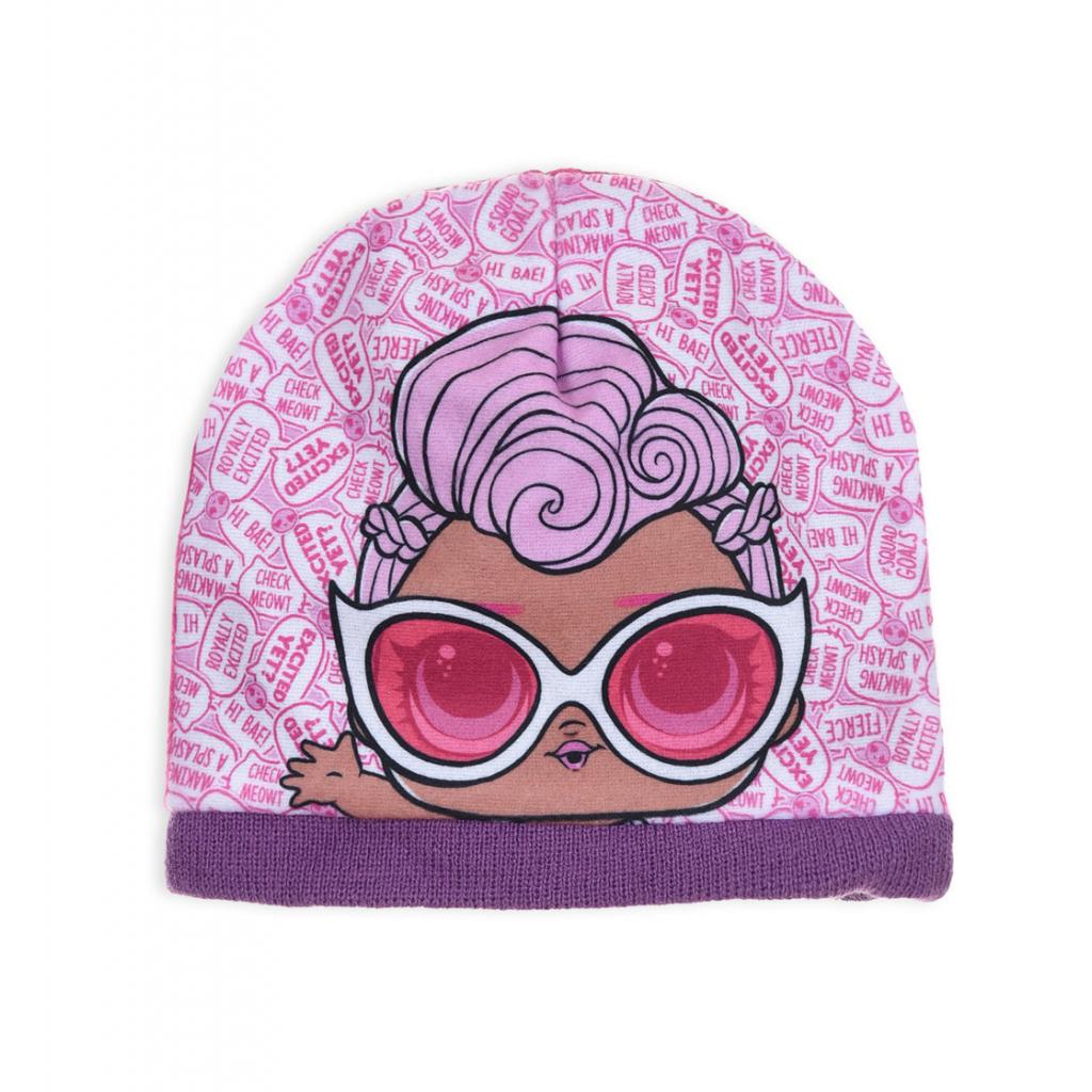 Dievčenská čiapka L.O.L SURPRISE fialový lem