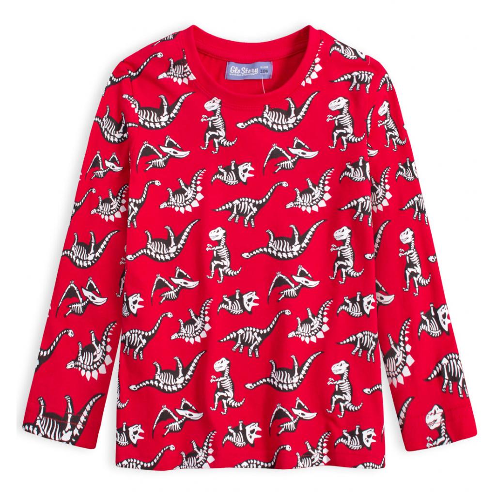 Chlapčenské tričko GLO STORY DINOSAURI červené