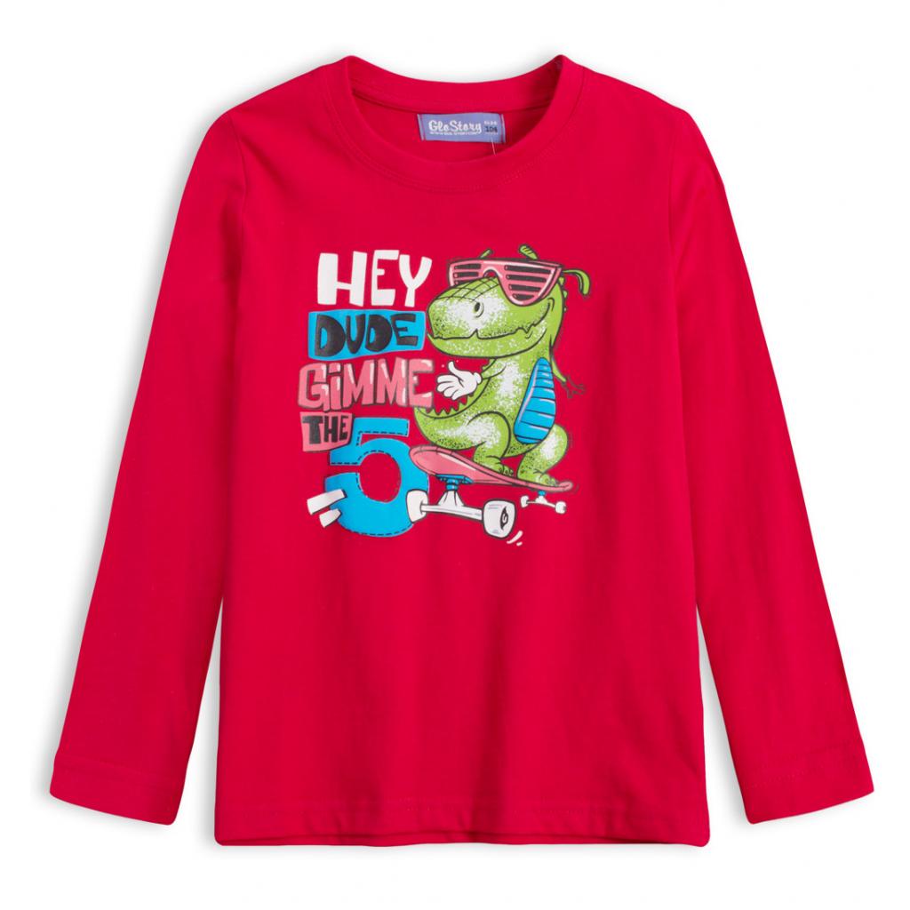 Chlapčenské tričko GLO STORY DINO HEY červené