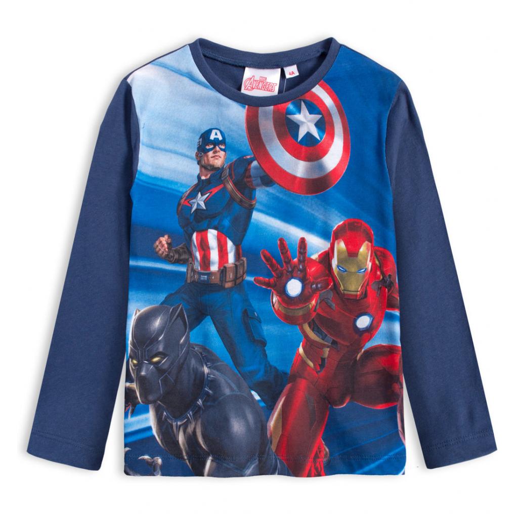 Chlapčenské tričko AVENGERS HERO modré