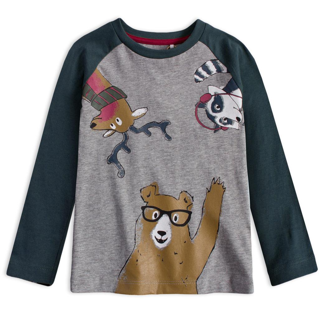 Chlapčenské tričko KNOT SO BAD WINTER ANIMALS modré
