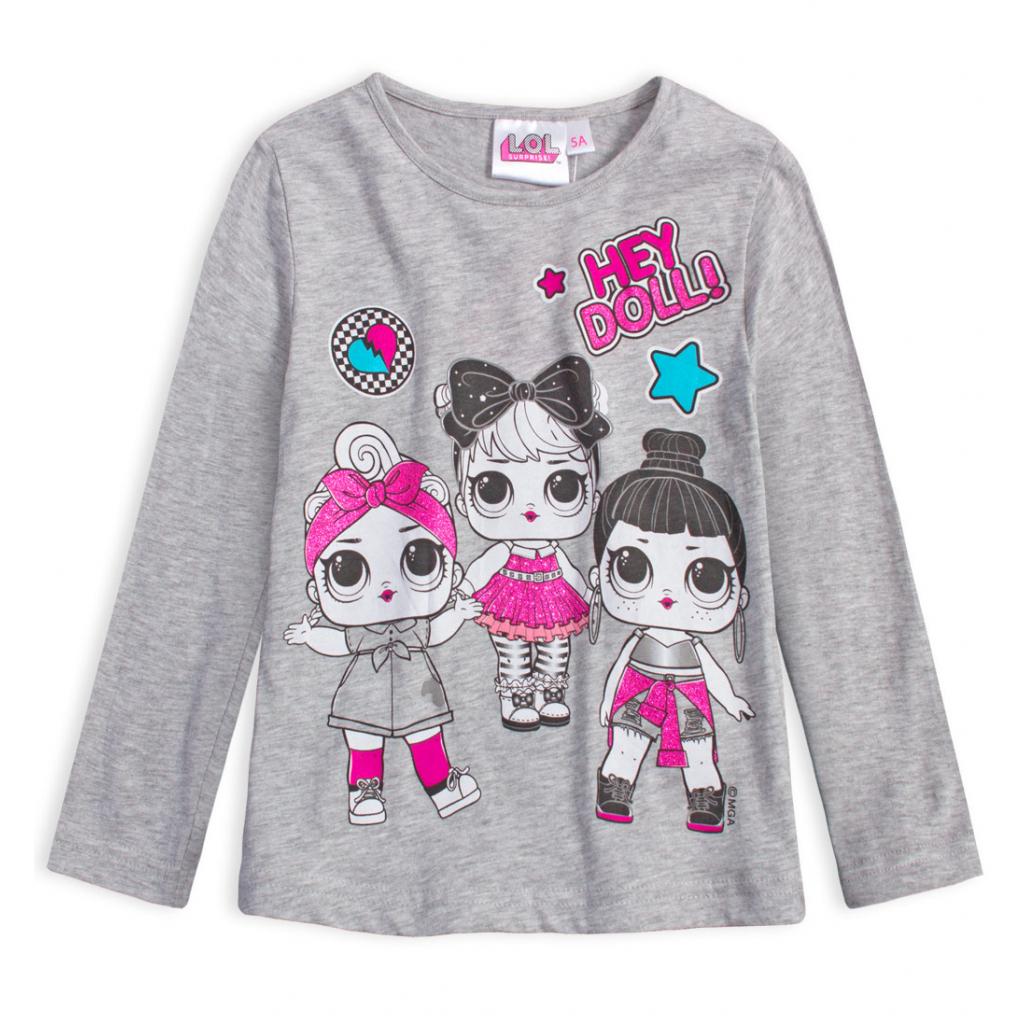 Dievčenské tričko L.O.L SURPRISE DOLL šedé