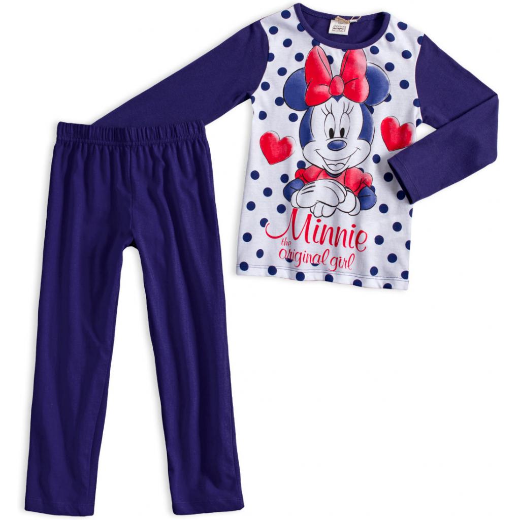 Dievčenské pyžamo z bio bavlny DISNEY MINNIE ORIGINAL GIRL modré