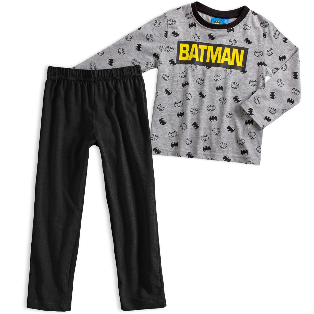 Chlapčenské pyžamo BATMAN NÁPIS svetlo šedé