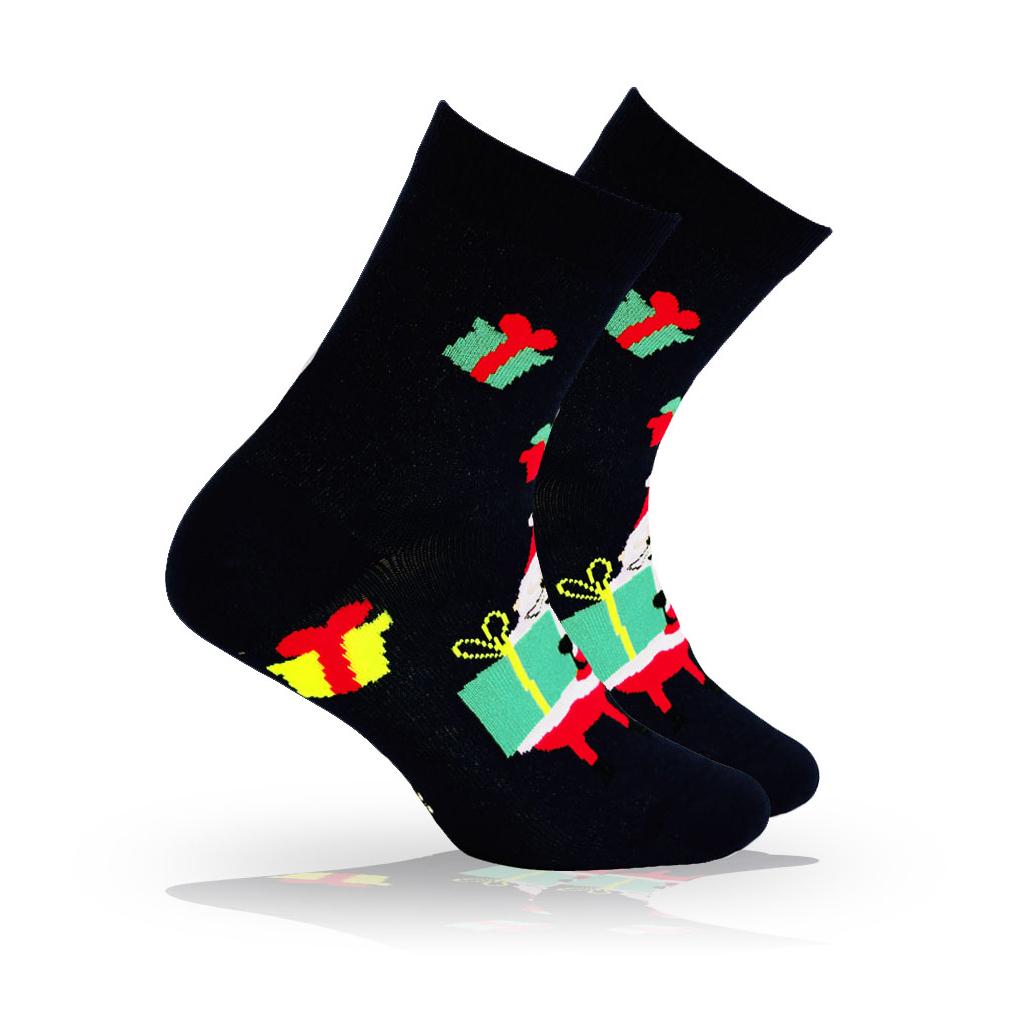 Ponožky s vianočným motívom WOLA FAREBNÉ DARČEKY modré