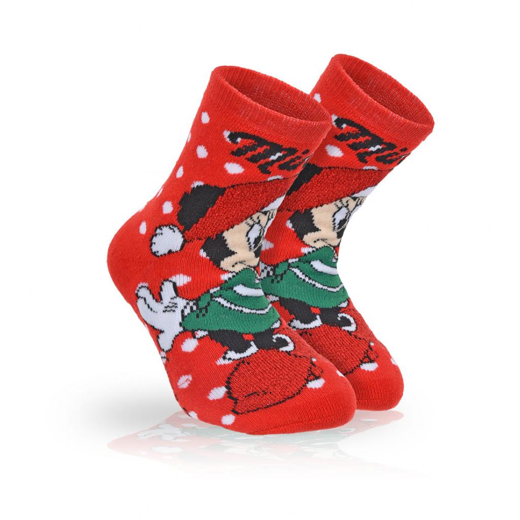 Dievčenské termo ponožky DISNEY MINNIE WINTER TIME červené