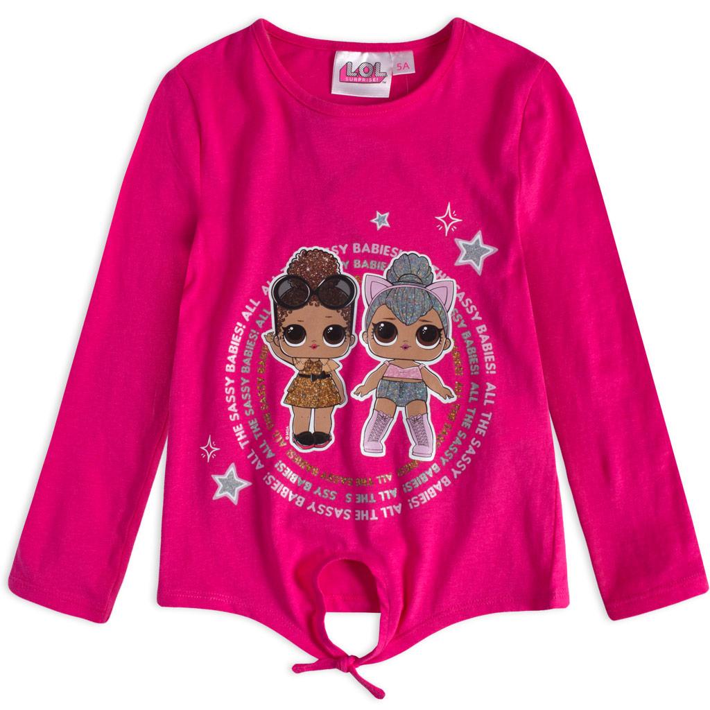 Dievčenské tričko L.O.L SURPRISE SASSY BABIES ružové