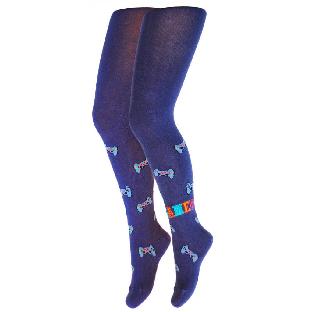 Chlapčenské pančuchy so vzorom GATTA GAMER modré