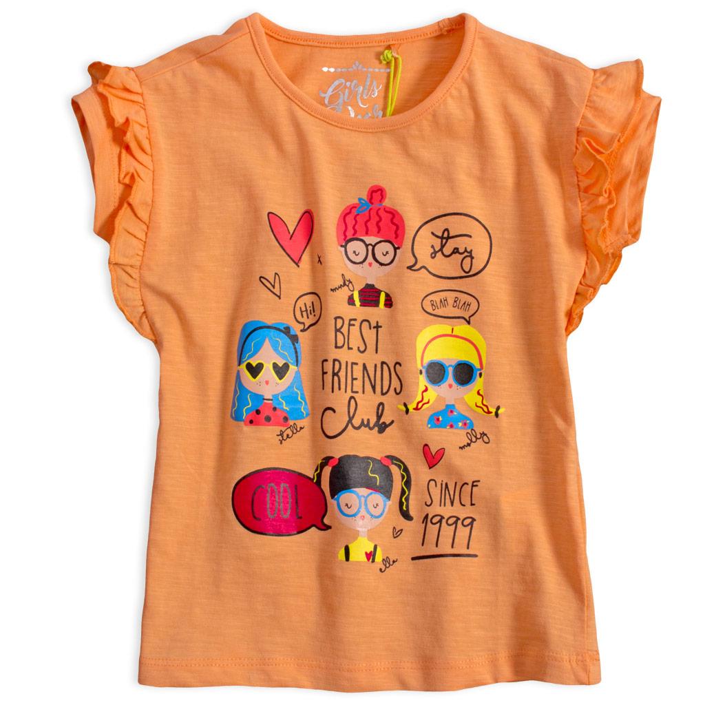 Dievčenské tričko  LEMON BERET COOL FRIENDS oranžové
