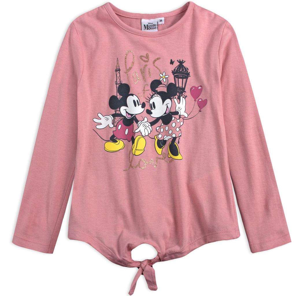 Dievčenské tričko DISNEY MINNIE PARIS ružové