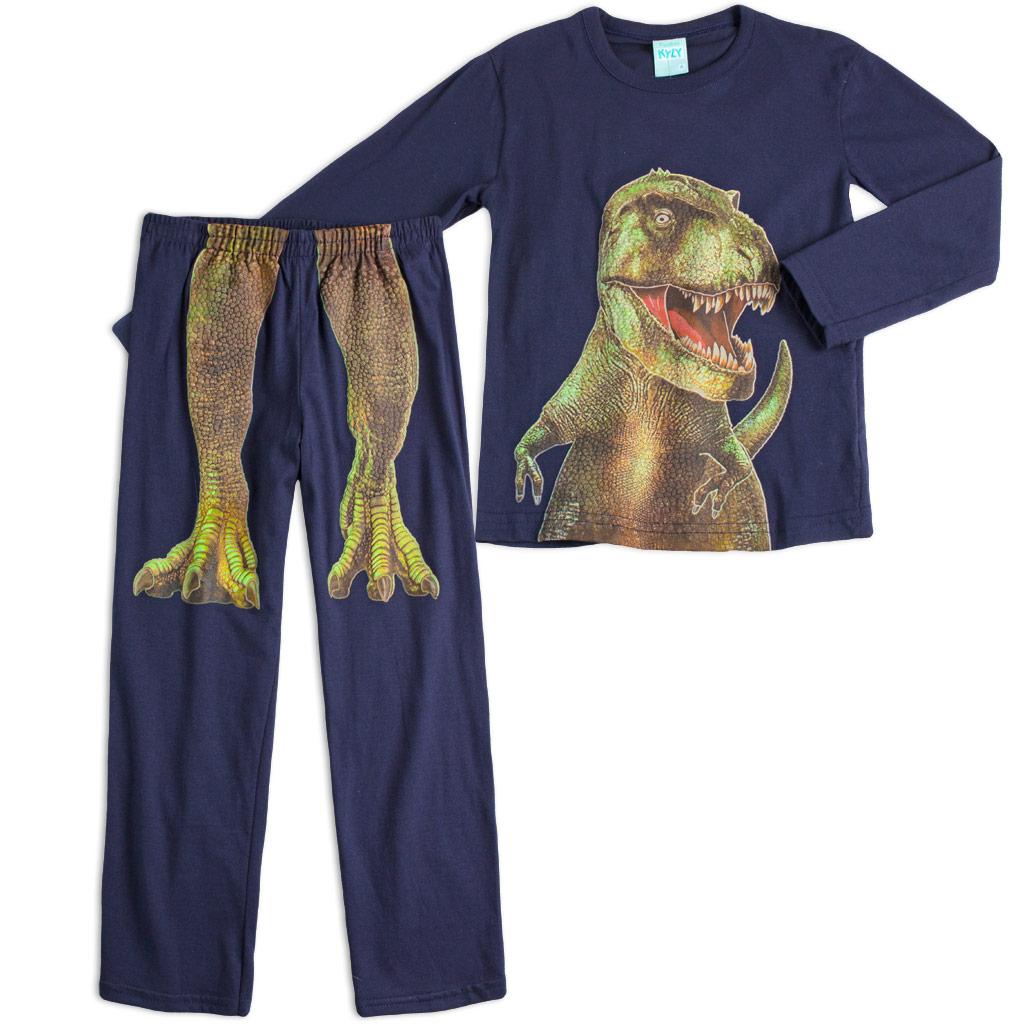 Chlapčenské pyžamo KYLY T-TEX tmavo modré