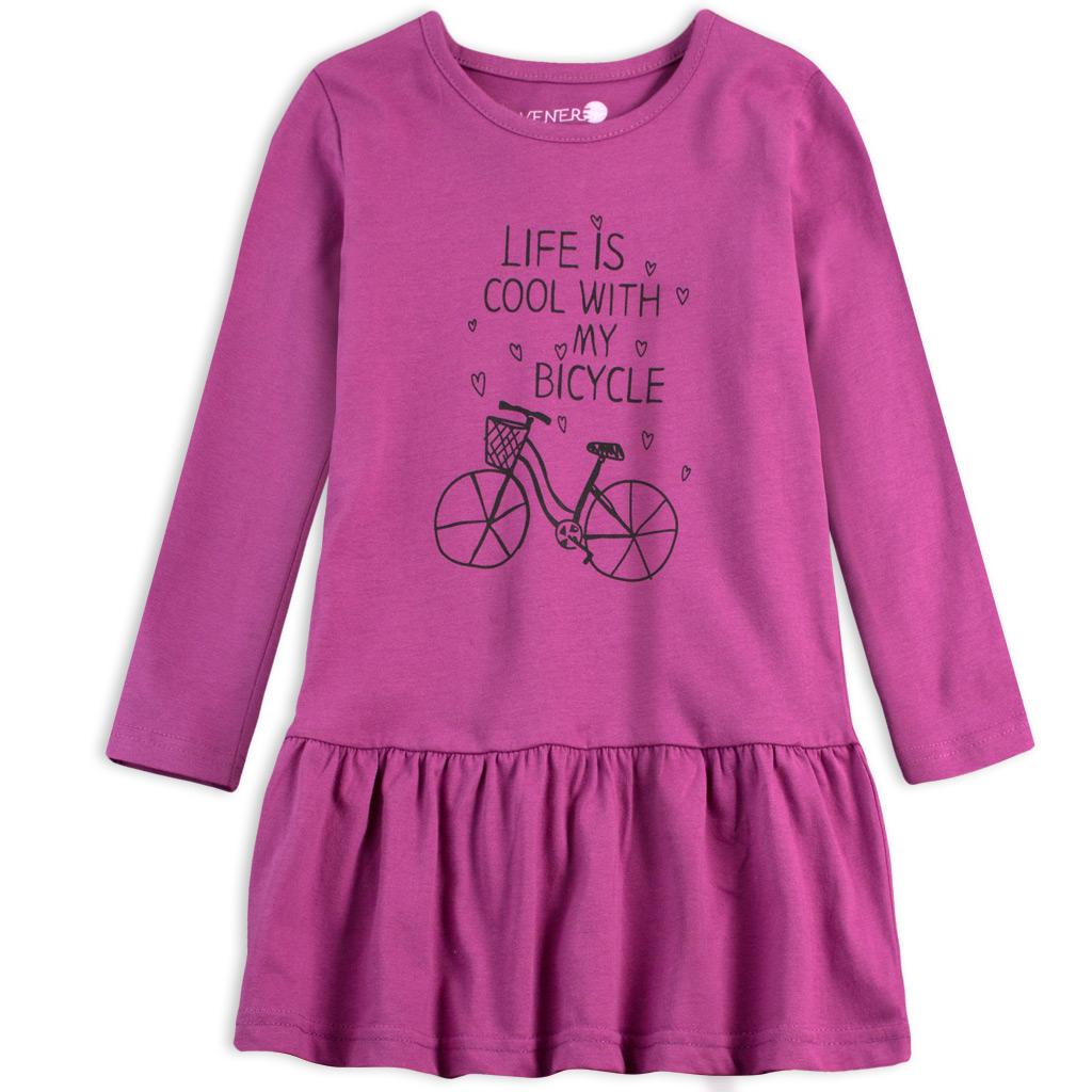 Dievčenské šaty VENERE BICYCLE fialové
